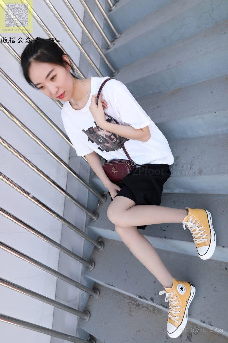 [LSS山茶摄影]NO.129 灰丝棉袜帆布鞋[85P/423M]